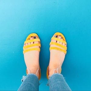 Yellow Suede Madewell Sandals